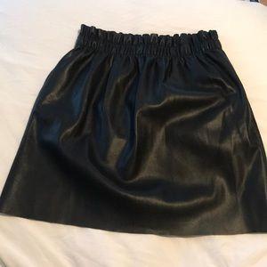 Zara faux leather bag skirt, size L Large